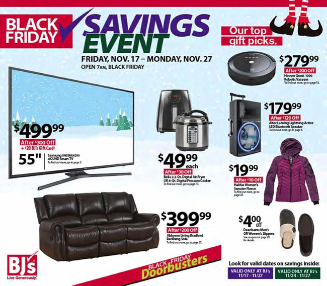 BJ's Black Friday Ad Released