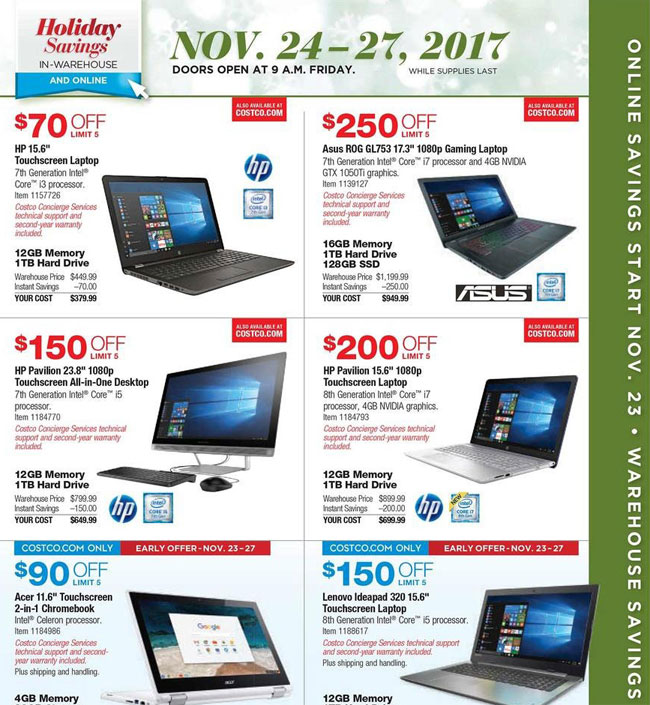 Costco Black Friday Ad Released