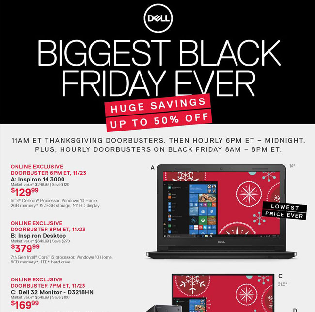 Dell Black Friday Ad Posted