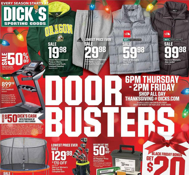 Dick's Sporting Goods Black Friday 2018