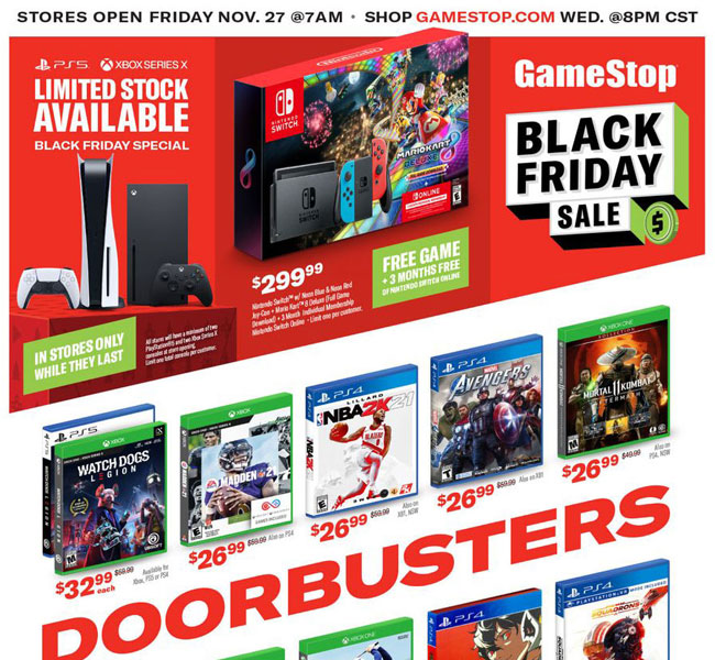 GameStop Black Friday 2021