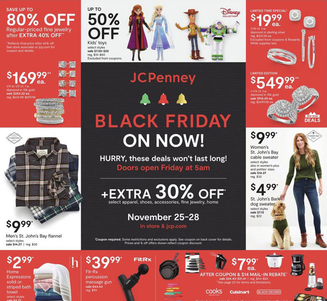 JCPenney Black Friday Ad Posted