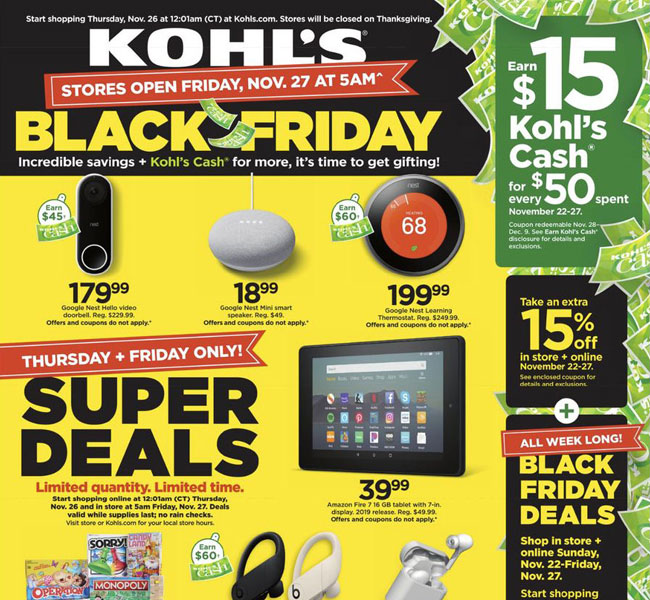 Kohl's Black Friday Ad Posted