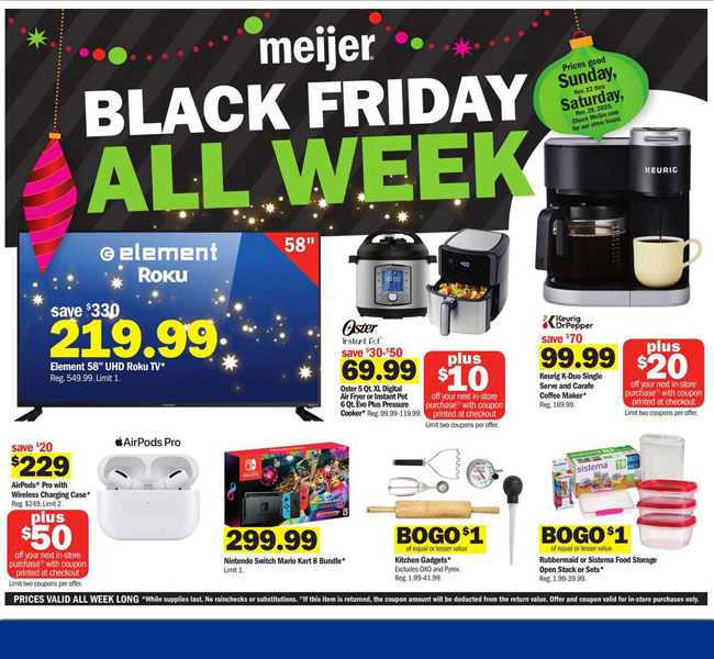 Meijer Black Friday 2021