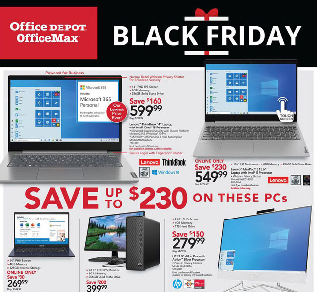 Office Depot Black Friday 2021