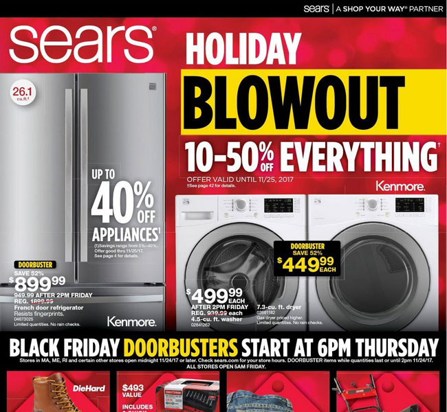Sears Black Friday Ad Posted