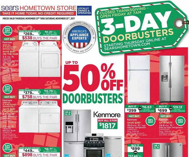 Sears Hometown Store Black Friday Ad Posted