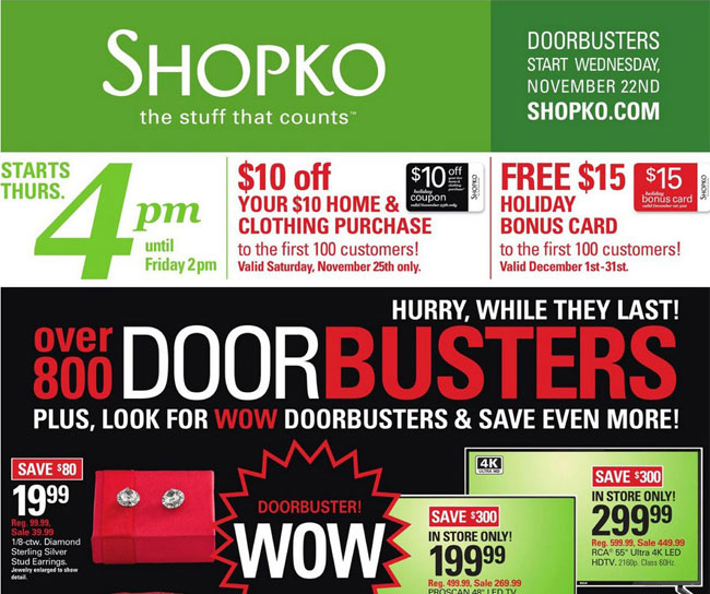 ShopKo Black Friday Ad Released