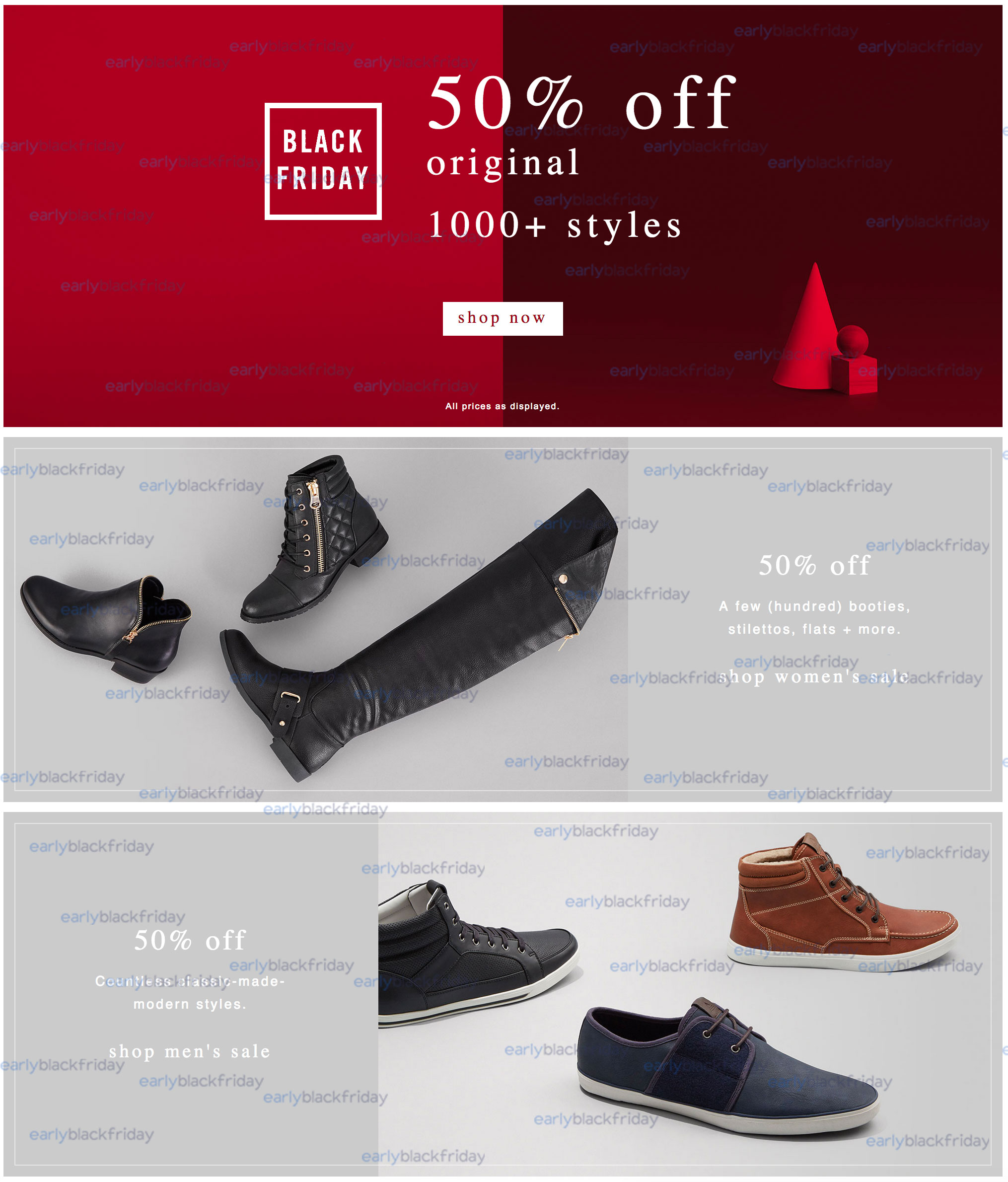 aldo shoes 50% off