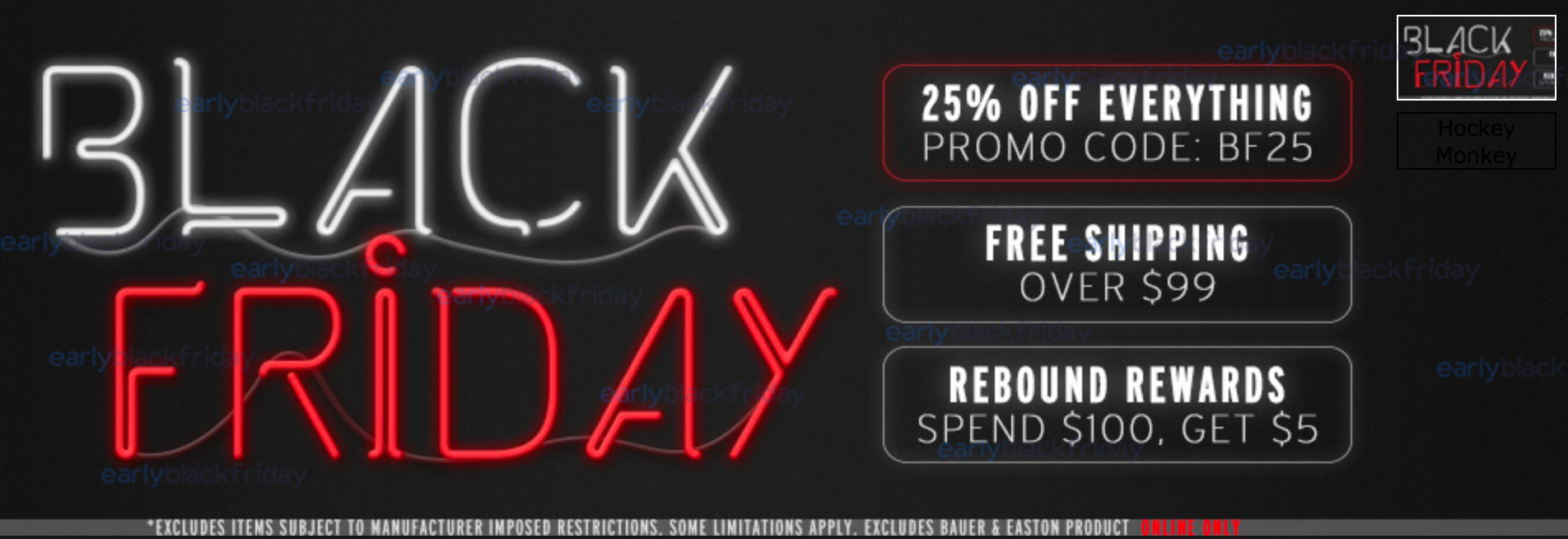 Hockey Monkey Black Friday 2015