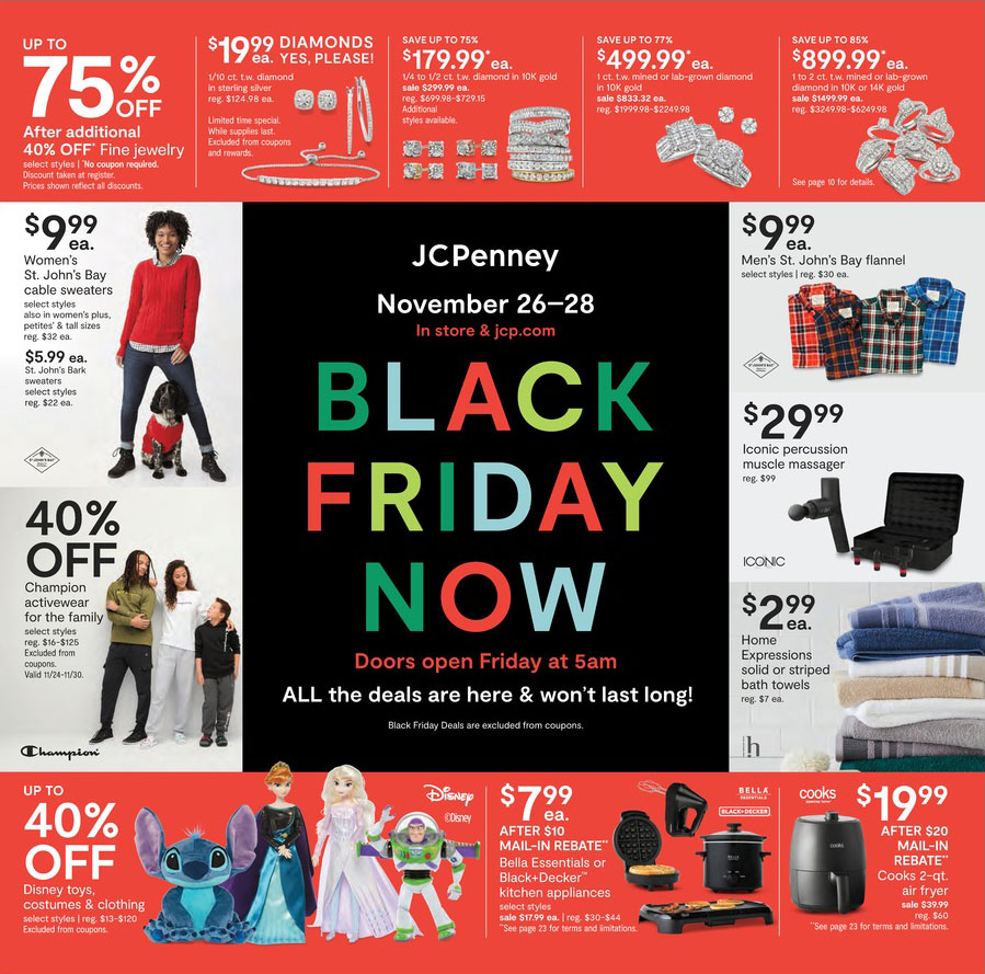 JCPenney.com Black Friday deals